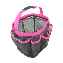 8 Mesh Pockets Qucik Dry Tote Handle Shower Bathing Product Bag Organizer for For Travel College and Dorm,Pink