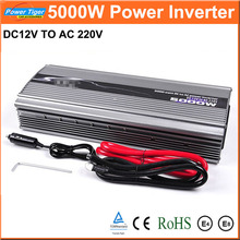 New 1pcs Car Power Inverter DC12V to AC220V Inverter 5000W Modified Sine Wave Car Power Converter Inverter Peak Power 10000W(China)