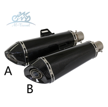 Buy Universal 36-51mm Motorcycle exhaust Modified Scooter carbon fiber muffler Exhaust Muffle Fit motorcycle z1000 mt07 cbr for $95.00 in AliExpress store