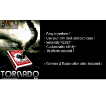 TORNADO BOX by Mickael Chatelain (Gimmick+online instruct) Card Magic Trick Illusion Close Up Street card props 81438(China)