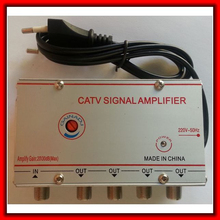 4 Ways 20db CATV TV Antenna Signal Amplifier Booster Splitter (Eueope Plug)(China)