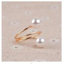 r342 Jewelry plating elegant gold simulated of high quality pearl  jewelry ring accessory birthday party