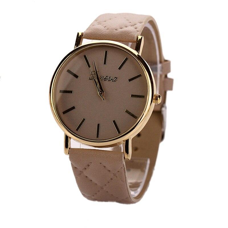 Luxury New watches women Unisex Casual  PU Leather Quartz Wrist Watch Geneva bracelet Ladies Dress Watches relojes mujer<br><br>Aliexpress