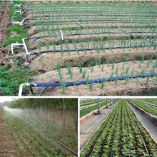 "200 m 1""N45 5-Hole Spray Irrigation Soft Water Pipe Drip Tape Saving Irrigation Hose For Farm Land Watering Kits(China)"