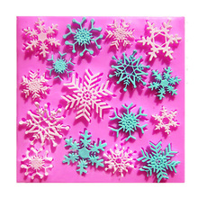 Special Offer for Christmas cake baking tools Beautiful snowflake cake decoration tools silicone molds F0765(China)