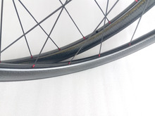 700c Dimpled 58mm Road Bicycle Carbon Wheels Clincher  R36 Hubs 20/24H new braking surface 1420 spokes Bike Wheelset