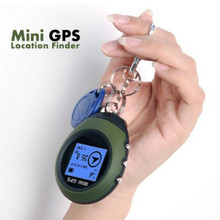 Mini GPS Receiver Tracker + Location Finder with Keychain USB Rechargeable for Outdoor Sport Travel  Vehicle Handheld Keychain