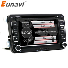 Eunavi 7 inch 2 din Multimedial VW Car DVD Player GPS Navigation for GOLF 6 new polo New Bora JETTA PASSAT B6 SKODA GPS Map swc