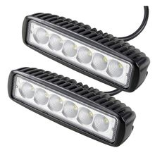 2PCS 18W 12V LED Work Light Bar Spot Flood Lamp Driving Fog LED Work Car Light For 4x4 Offroad SUV Car Truck Trailer Tractor UTV
