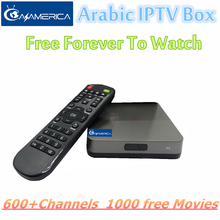 2017 Swedish IPTV Azamerica Arabic box free Forvever Monthly Fee TV Box Support 600+ HD IP TVchannel - Hi digital store