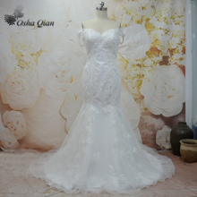 Buy Direct Fom China Mermaid Wedding Dresses Off The Shoulder Zipper Bridal Gowns Beaded Rhinestones Bride Dress Bruidsjurken