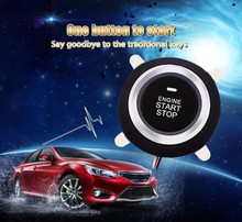 Universal Car Engine Push Start Button RFID Lock Ignition Starter Car Alarm Keyless Entry System Anti-theft Oil Detector(China)