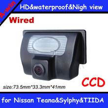 "Free shipping CCD 1/3"" Car Rear view Camera Parking Back Up Reversing Camera for  Nissan Teana Sylphy TIIDA"
