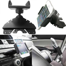 Universal 360 Degree Car CD Slot Holder Mobile Phone GPS Sat Nav Stand Cradle Mount Support US Overseas Warehouse