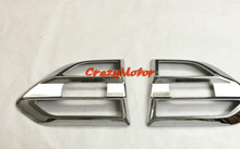 For Ford Everest SUV 4 Door 2015 2016 Chrome Door Fender Side Turn Signal Light Cover trims