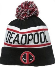 % Popular fashion Deadpool Street hip-hop skateboard knitted hat ball cap jacquard wool hat men and women fall and winter(China)
