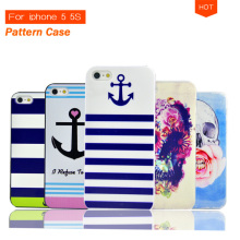 Cartoon Cute Hard Case with Stripe Anchor Navy Punk Skull UK Flag Tribal Print for iphone 5 5S 5G Cell Phone Protective Cover