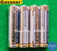 2000pcs/lot AAA LR03 AM4 1.5 volt Alkaline battery SGS, ISO9001 passed Nice golden Jacket FedEx UPS Free shipping(China)