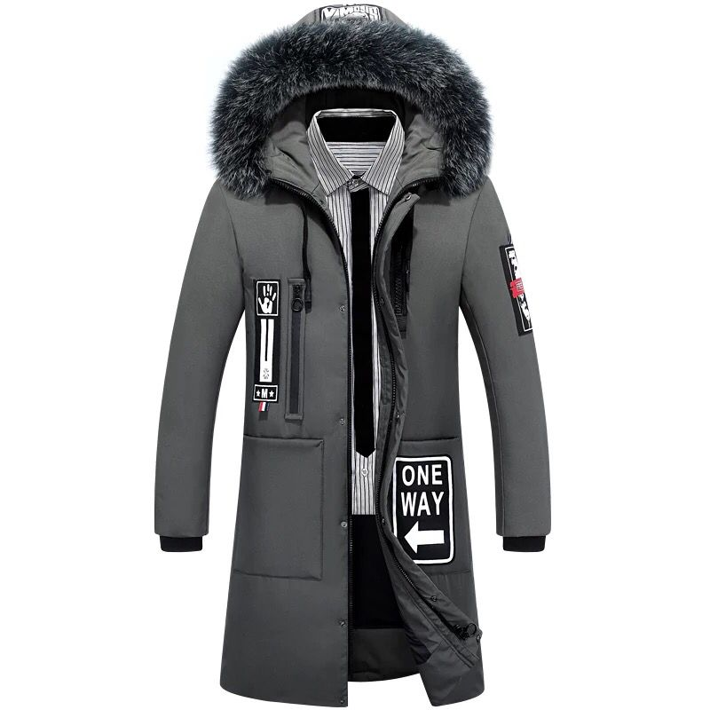 Mens Fur Parka Thick Warm Winter Men Jackets Loose Outerwear Fluff Lining Coats Parkas Business Male Casual Clothing Plus Size