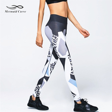 Mermaid Curve Sexy Leopard Print  Leggings Women Fitness High Elastic  Pants  Bodybuilding Workout Leggings