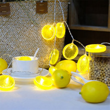 1.5M/3M/6M LEMON Shaped Theme LED String Fairy Lights Christmas Holiday Wedding Decoration Party Lighting Outdoor Indoor(China)