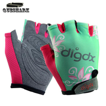 Breathable Riding Bicycle MTB Mountain Road Bike Gloves Half Finger Children Cycling Gloves for Kids Boys Girls Sports Gloves(China)