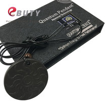Newest Design Lava Quantum Pendant Energy Health Jewelry With 3000cc Negative Ions and Nano Card Black Charms 2pcs/lot