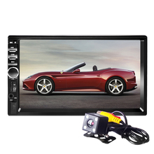 7018B 7Inch LCD HD Double DIN Car In-Dash Touch Screen Bluetooth Car Stereo FM MP3 MP5 Radio Player with Wireless autoradio
