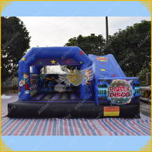 Music Disco Bouncy Castles for Kids, Inflatable Castle Slide Combo for Rental,Good Quality one