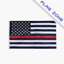RedLine usa Police Flags, 3 By 5 Foot Thin Red Line Flag Blue Line USA  Flag  Black, White  American Flag With Brass Grommets