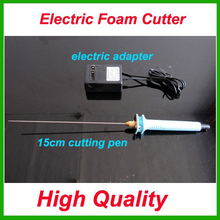Free shipping 1pc 15cm Electric Foam Hot Knife Styrofoam Cutter Pen+ Electronic Voltage Transformer Adapter (EU plug available)(China)