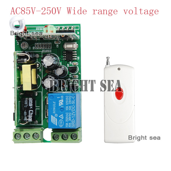 85V-280V wide range voltage RF wireless remote control switch system 1Receiver &amp;1Transmitter 315/433MHZ for LED ON/OFF<br><br>Aliexpress