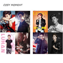 COSY MOMENT 8pcs/set KPOP EXO LU HUAN Poster Club Home Wall Decoration Celebrate Gift For Fans  QT225