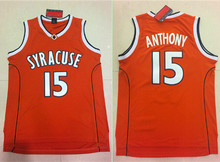2018 New Carmelo Anthony #15 Syracuse Orangemen College Men Basketball Jersey Stiched S-XXL(China)