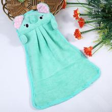 Hand Tower Cartoon Elephant Hand Dry Towel Clearing Lovely Animal Face Towel For Kitchen Bathroom Office Car Use(China)