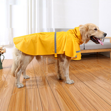 XS-2XL The new large dog raincoat dog coat Leisure pet clothes dog raincoat teddy bear big dog raincoat factory direct sale(China)