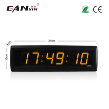[Ganxin]Manufacturer Remote Control Gift For Desk Digital Led Clock with Yellow Color