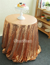 156'' Rose Gold Round Sequin Tablecloth Wholesale Wedding Beautiful Sequin Tablecloth for Weddings