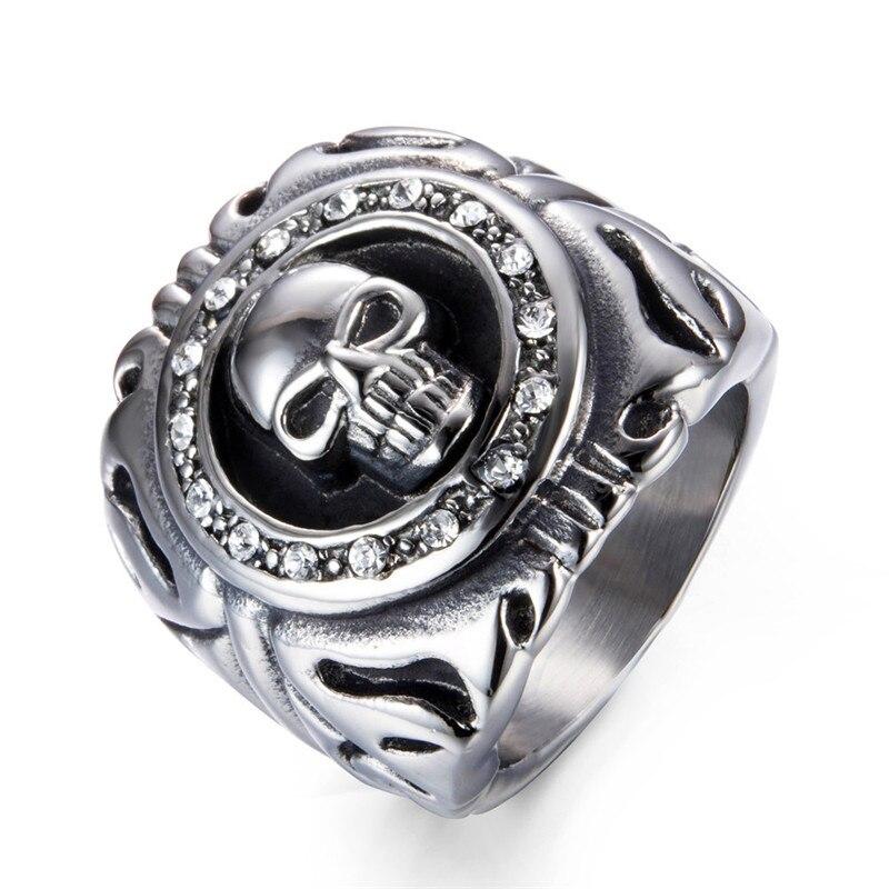 แหวนโคตรเท่ห์ Code 015 แหวนพังก์ Biker สแตนเลส1