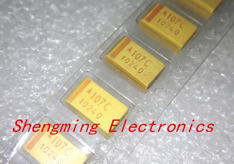 100PCS 3528 16V 100UF 107C B Type SMD tantalum capacitor