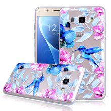 YOKATA Cute Woodpecker Bird Case For Samsung Galaxy S7 Edge S8 Plus J5 2016 J510 J7 2017 Clear Soft TPU Phone Protect Back Cover