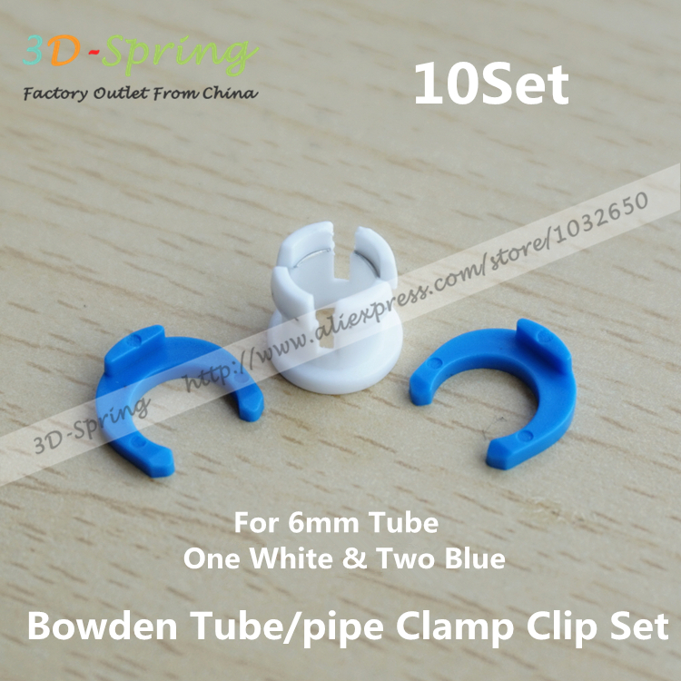 10Set Ultimaker Bowden Tube/pipe Blue and White Coupling Collet And Clamp Clip Set Fixed 6mm Tube For 1.75mm 3mm Filament<br><br>Aliexpress