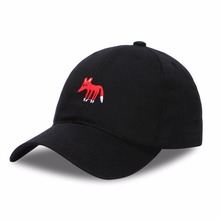 New 100% Cotton Rockstar Fox Cap Skull Adjustable Baseball Cap For Men Women Snapback Hip Hop Cap Casquette Gorras Bone Dad Hats(China)