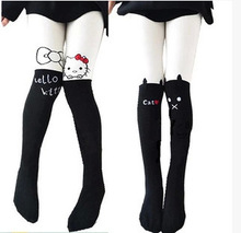 kids tights for girls hello kitty toddler kids boot  children's tights cotton carton 2015 autumn spring
