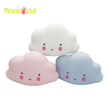 Meaningsfull Novelty Cute Mini Lamps White Cloud Led Night Light Kids Children Bedroom Nursery Room Decor Baby Christmas Gift(China)