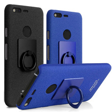 IMAK Cowboy Case Matte Case for Google Pixel Hard Back Cover for HTC Nexus Sailfish/S1 Cases & Finger Ring Hold Screen Film