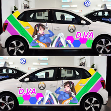ACG Drift Sticker OverWatch Game Stickers D.VA Car Door Stickers Paint Racing Decal Auto Body Camouflage Vinyl 3D Car Decals