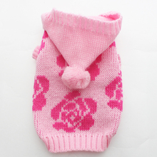 Pet  Dog Sweater Jumper KNIT Hoody Rose Jersey Cat  Puppy Coat Jacket  Warm Clothes 6 sizes