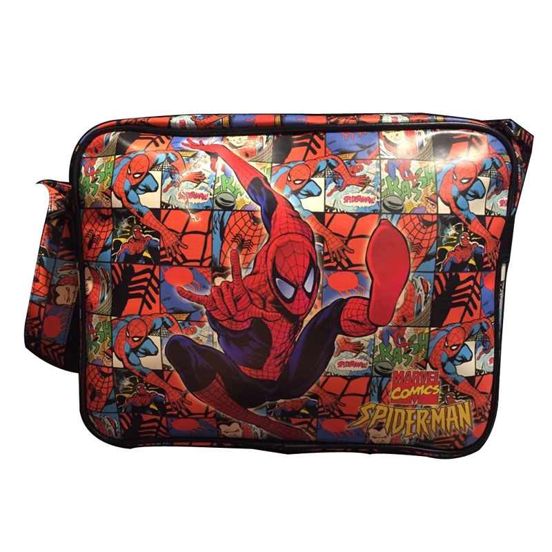 DC Marvel Comics Spider Man Messenger Bags Anime Hero Superman Captain America Deadpool Bat-men Casual Leather Messenger Bag<br><br>Aliexpress