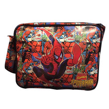 DC Marvel Comics Spider Man Messenger Bags Anime Hero Superman Captain America Deadpool Bat-men Casual Leather Messenger Bag(China)